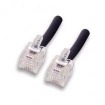 Cavo Telefonico Modulare RJ-11 6P4C 2 Mt Nero ICOC MD-11-02 - Intellinet - ICOC MD-11-02