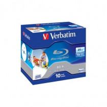 Verbatim Confezione 10 DVD Blu Ray Disc 25 GB 6X Printable BD-R 43713/10 - Verbatim - 43713/10
