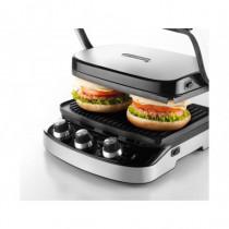DeLonghi Barbecue e Bistecchiera Griglia di contatto Elettrica 1500 W Nero, Acciaio Inox CGH900 - DeLonghi - CGH900