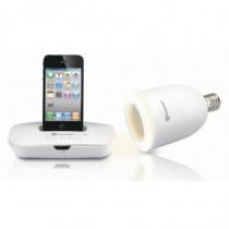 Kentron Docking + Lampada Audio Wireless Bianchi per iPod, iPhone KESOUNDLITE - Kentron - KESOUNDLITE