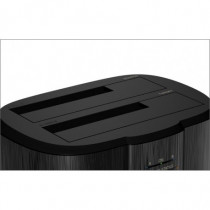 Docking Kit Toast HDD  SSD 2,5   3,5  SATA USB 3.0 Alluminio Nero - ICY BOX - IB-124CL-U3