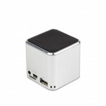 Gembird Altoparlante Speakers portatile Cubo 3 W USB Argento SPK-108-S - Gembird - SPK-108-S