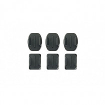 GoPro Kit Basi adesive Piatte e Curve Nere per Macchina Fotografica DK00150060 - GoPro - DK00150060