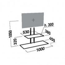 ITB Staffa per montaggio a Pavimento Studio 1000 per Tv  Monitor fino a 50   portata 40 Kg VESA Acciaio Nera AMER035061 - ITB - AMER035061