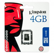 Kingston Technology Memory Card Flash  4 GB Micro SDHC SDC4/4GBSP - Kingston Technology - SDC4/4GBSP