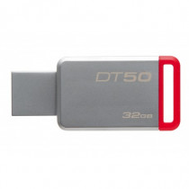 Kingston Technology  DataTraveler 50 32GB 32GB USB 3.0 3.1 Gen 1 Tipo-A Rosso, Argento unità flash USB DT5032GB - Kingston Technology - DT50/32GB