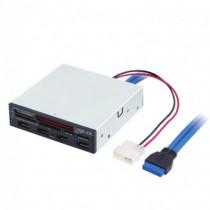 LogiLink Lettore Scrittore di Memorie Int. USB 3.0 Alloggio 3,5 '' con HUB 3 Porte Bianco  IUSB3-CARD-4P2 - LogiLink - IUSB3-CARD-4P2