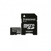 Transcend Memory Card Micro SDHC 4 GB Classe 4 con Adattatore a SD TS4GUSDHC4 - Transcend - TS4GUSDHC4