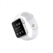Apple Smart Watch Sport cassa da 42 mm in Alluminio Argento e cinturino Sport Bianco - Apple - MJ3N2TYA