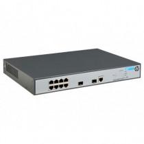 HP Switch 8 Porte Lan RJ-45 10  100  1000 MBPS + 2 Porte Uplink Fibra  Ottiche Slot SFP PoE+ 65 W Grigio - HP - JG921A