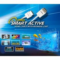 Techly Cavo attivo HDMI 2.0 Tecnologia RedMere 18 GBPS 1,8 Mt Bianco ICOC HDMI-RM2-018 - Techly - ICOC HDMI-RM2-018