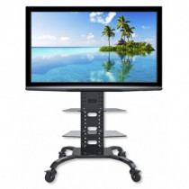 Techly Supporto a Pavimento con 2 Mensole Trolley TV LCD-LED-Plasma 32-70 ICA-TR8 - Techly - ICA-TR8