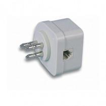 Intellinet Adattatore Tripolare Telefonica passante con Spina Modulare I-EDL 80 - Intellinet - I-EDL 80