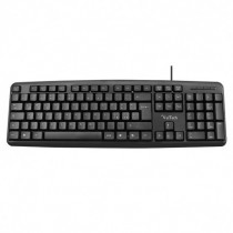 Vultech  KEY-615 PS2 QWERTY Italiano Nero tastiera - Vultech - KEY-615
